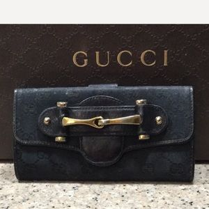 Gucci Canvas & Leather Wallet